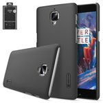 Case Nillkin Super Frosted Shield compatible with OnePlus 3 A3003, (black, with support, matt, plastic) #6902048123878