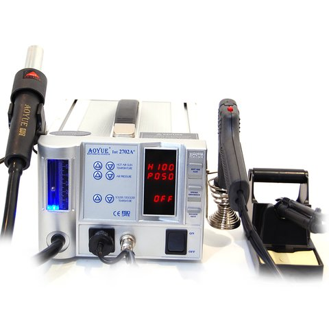 Термовоздушная паяльная станция для бессвинцовой пайки AOYUE 2702A+ 220 В