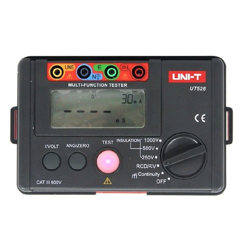 Вимірювач ПЗВ, опору ізоляції та напруги UNI T UT526