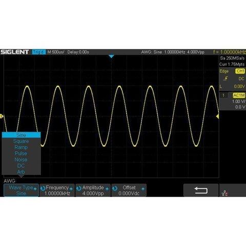Генератор сигналів SIGLENT SDS1000X E FG ключ активації  для SIGLENT SDS1104X E, SDS1204X E