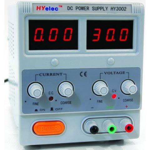 DC Power Supply  HYelec HY3002 LED display; 0 30V; 0 2A
