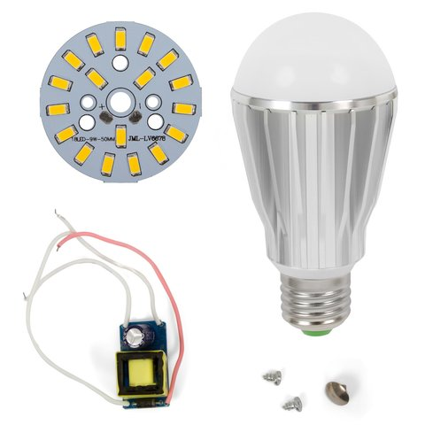 LED Light Bulb DIY Kit SQ Q17 9 W warm white, E27